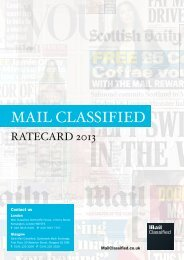 rate card and copy info - Mail Classified