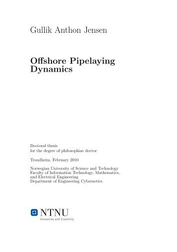 Offshore Pipelaying Dynamics - NTNU