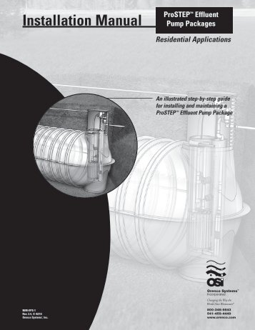 Installation Guide - ProSTEP Effluent Pump Packages