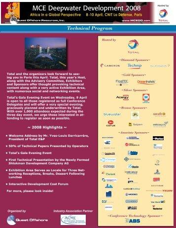 Technical Program - MCE Deepwater Development