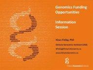 Genome Canada Bioinformatics & Computational Biology ...