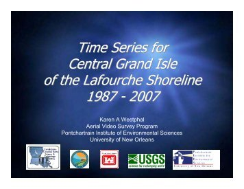 Time Series for Central Grand Isle of the Lafourche ... - Eowind.com