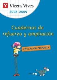 Cuadernos de refuerzo y ampliación 2008-2009 - Vicens Vives
