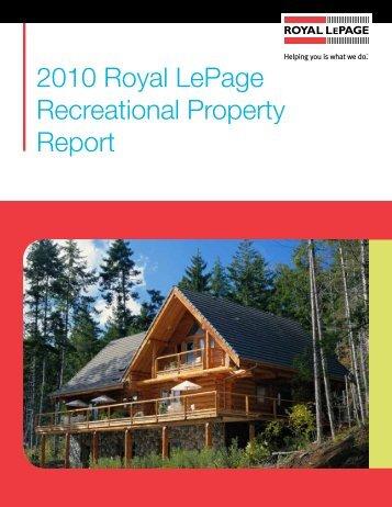 2010 Royal LePage Recreational Property Report - Hardware ...
