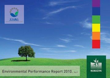 Dichiarazione Ambientale EMAS 2010 - Nord Zinc
