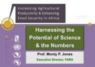 Science, technology, and innovation in African agriculture