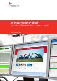 Managementhandbuch · Qualität – Arbeitssicherheit ... - Holcim