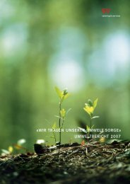 Umweltbericht 2007 - SV Group