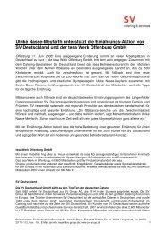 Ulrike Nasse-Meyfarth unterstützt die Ernährungs-Aktion von SV ...