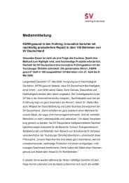 Medienmitteilung - SV (Deutschland) GmbH