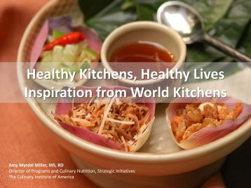 Healthy Kitchens, Healthy Lives Inspiration from World Kitchens