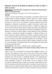 Regulação não-usual da atividade da redutase do nitrato em ... - ABH