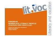 european workplace literacy profile - Grundbildung und Beruf