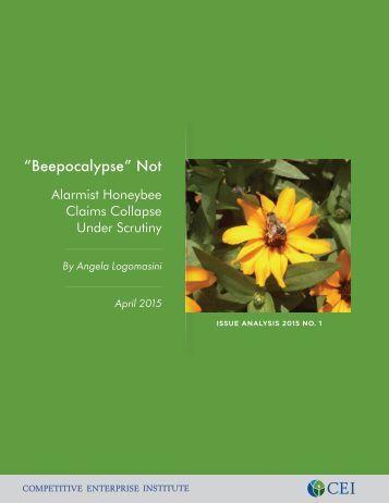 Angela Logomasini - Beepocalypse Not - April 8 2015