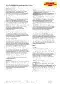 DHL Produktspecifika uppdragsvillkor inrikes - Page 5