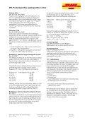 DHL Produktspecifika uppdragsvillkor inrikes - Page 6