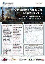 Optimising Oil & Gas Logistics 2012 13 - 14 of February ... - BrainNet
