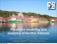 Predictive modeling and mapping of benthic habitats - PREHAB
