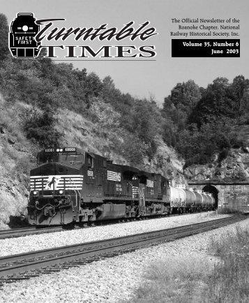 June 2003/exp - Roanoke Chapter National Railway Historical Society