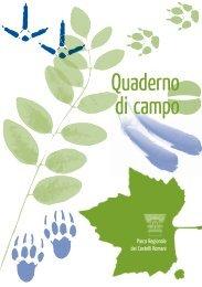 Quaderno di Campo.indd - Parco Regionale dei Castelli Romani