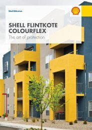 Shell Bitumen - Shell Flintkote Colourflex - The art of protection