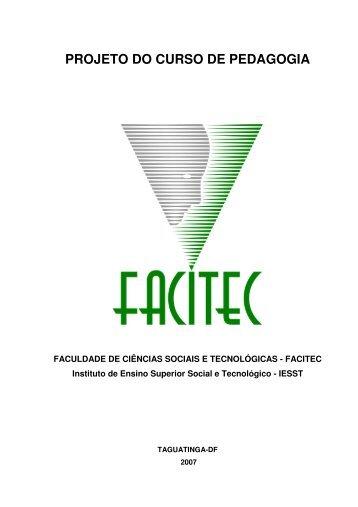 PROJETO DO CURSO DE PEDAGOGIA - Facitec