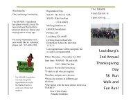 Louisburg's 2nd Annual Thanksgiving Day 5K Run Walk and Fun Run!