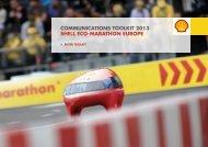 Download Shell Eco-marathon Europe 2013 Communications Toolkit