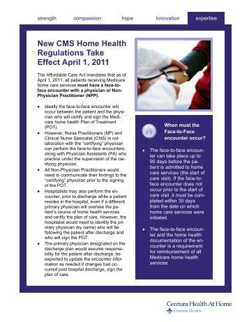 Face-to-Face Encounter Fact Sheet - Centuranews.org