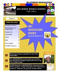 M3 Newsletter December 2012 - Bermuda Schools