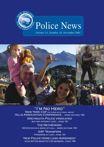 """I'm No Hero"" - New Zealand Police Association"