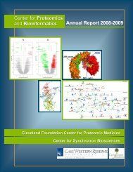 Proteomics - Center for Proteomics and Bioinformatics - Case ...
