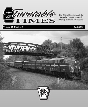 April 2002 - Roanoke Chapter National Railway Historical Society