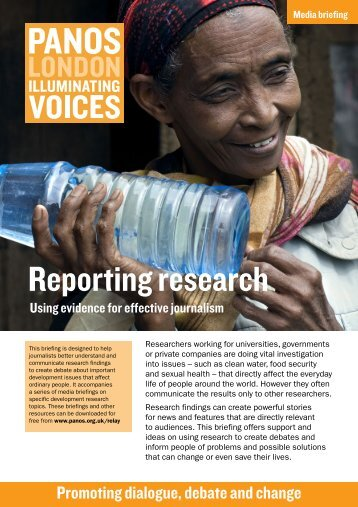 Reporting research: Using evidence for effective journalism