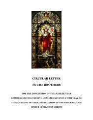 Circular LEtter - Congregation of the Resurrection, Priests, Brothers ...