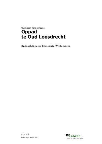 Oppad te Oud Loosdrecht - Gemeente Wijdemeren
