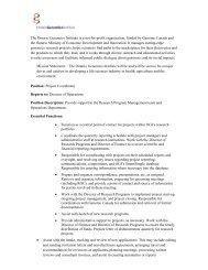 Project Coordinator - Ontario Genomics Institute