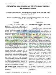estimativa da área foliar de cinco cultivares de morangueiro - ABH