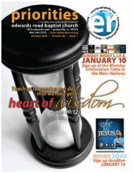 UARY 2010 ENDAR - Edwards Road Baptist Church