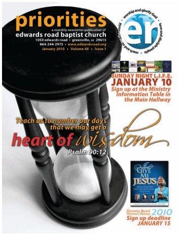 UARY 2010 ENDAR - Edwards Road Baptist Church