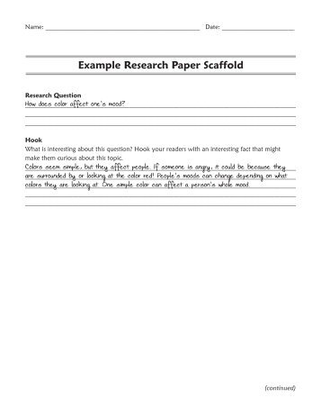 research paper scaffold readwritethink