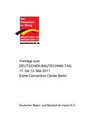 Vorwort - Deutscher Beton- und Bautechnik-Verein eV