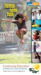 Continuing Education Brochure, Summer 2011 - Citrus College