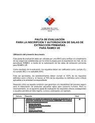 Pauta de Evaluación para Salas de Extracción Primaria