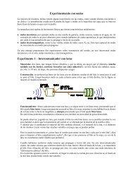 Experimentando con ondas Experimento 1 – Intercomunicador con ...