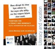 together for literacy and numeracy - Grundbildung und Beruf