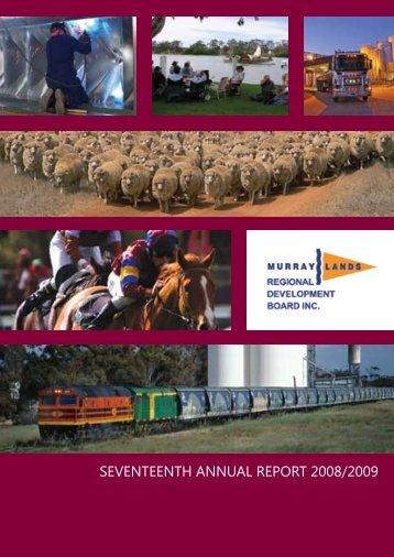 2008/2009 Annual Report - RDA Murraylands and Riverland Inc