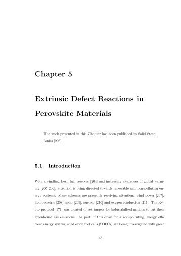 Chapter 5 Extrinsic Defect Reactions in Perovskite Materials