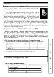 Seconde Le pendule simple Le texte suivant est extrait des - S. Tatulli