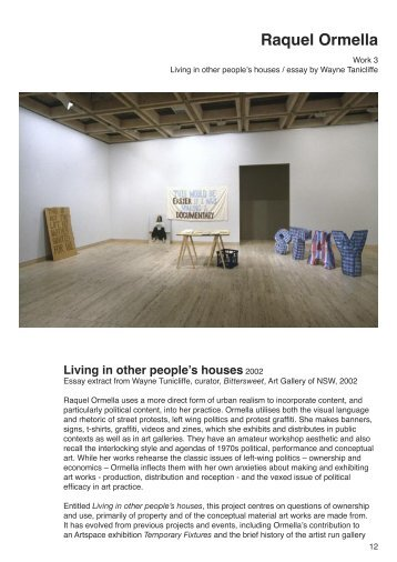 Wayne Tunnicliffe, Living in other people's houses - Milani Gallery